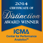 ICMA Center for Performance Measurement, 2013 Certificate of Achievement Award Winner