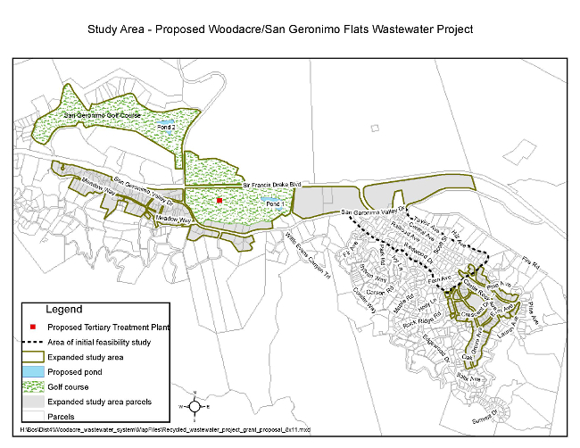 Woodacre/San Geronimo Wastewater Project Study Area