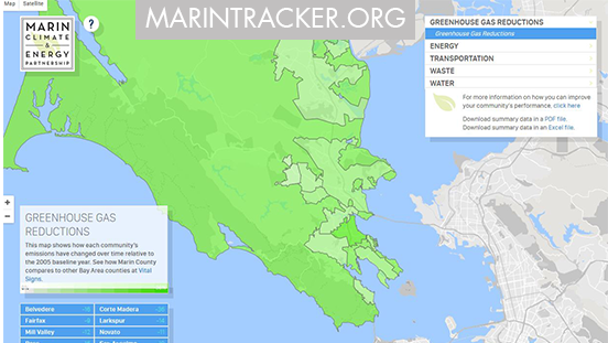 Image of Marin Tracker website