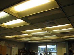 Mill Valley Middle School Lighting before retrofit.