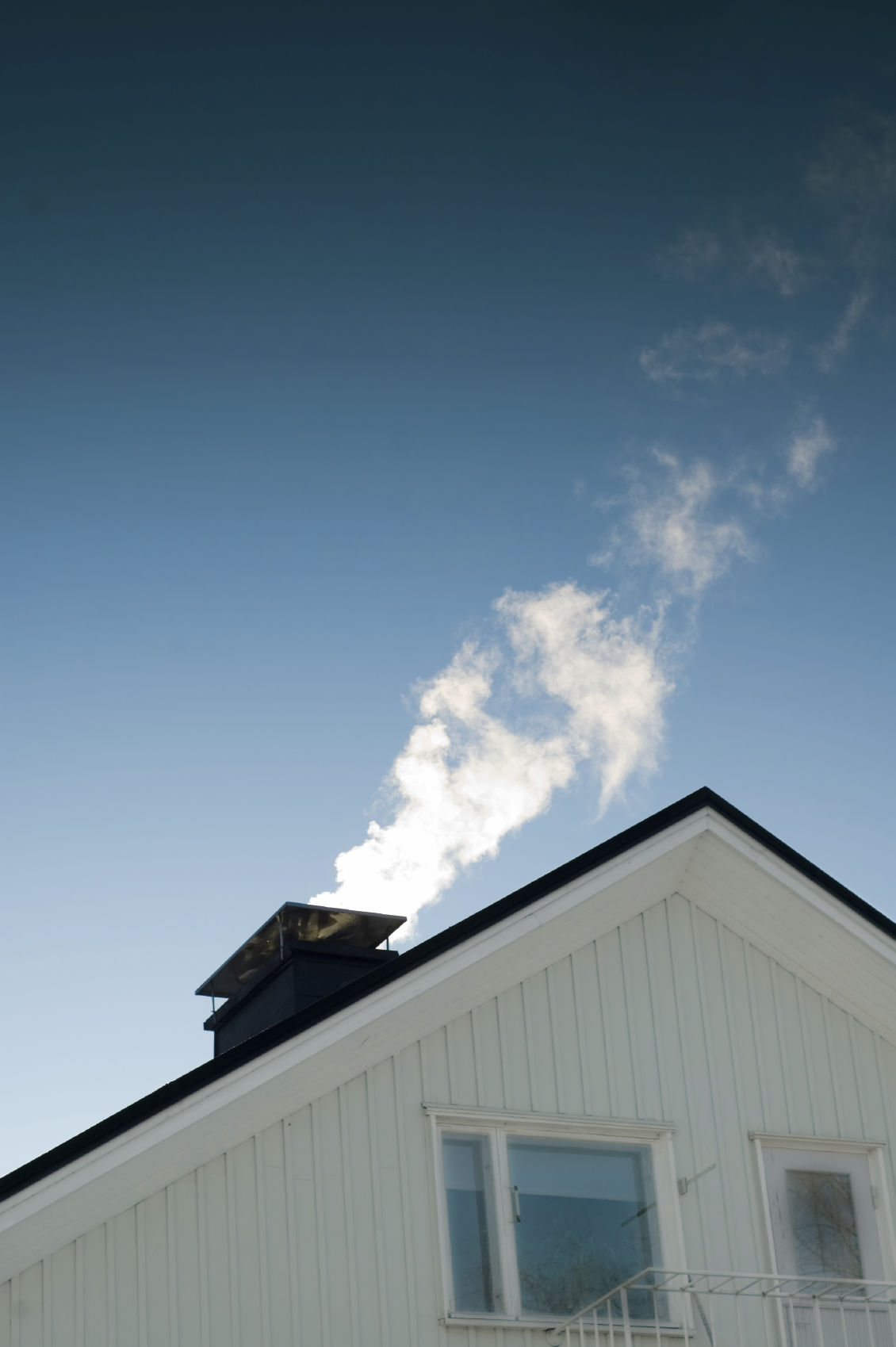 Image of chimney with smoke