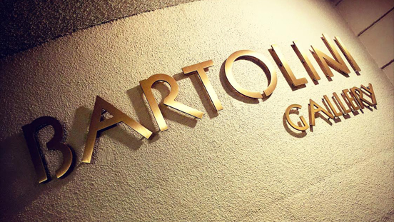 Wall signage for the Bartolini Gallery