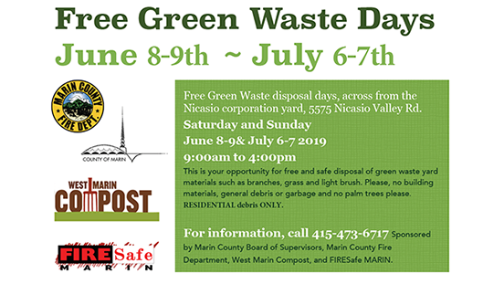 Free Green Waste Day Dates