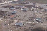 Aerial view of the Bolivar Peninsula after Hurricane Ike