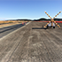 Runway with Geogrid being installed