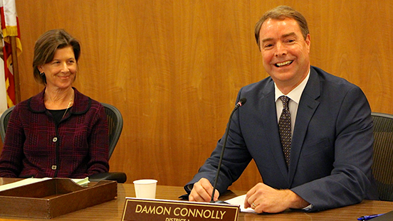 Supervisors Katie Rice and Damon Connolly on January 6, 2015