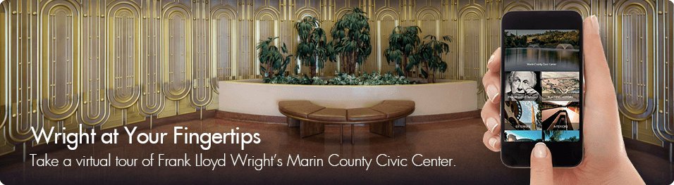 Take a virtual tour of Frank Lloyd Wright's Marin County Civic Center with a new smartphone app