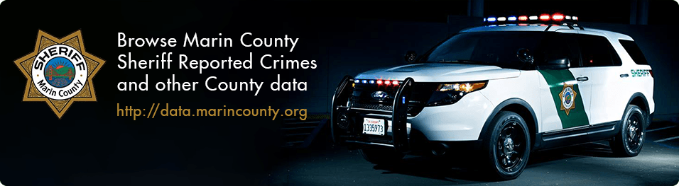 Browse Marin County Sheriff Reported Crimes and other County data. http://data.marincounty.org