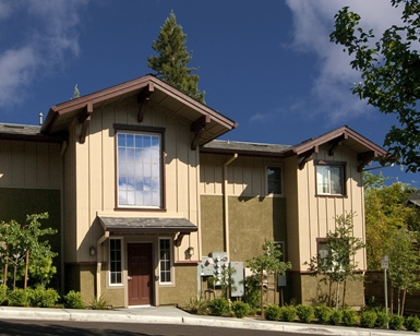 A front view of Toussin Place, an affordable housing complex in Marin.