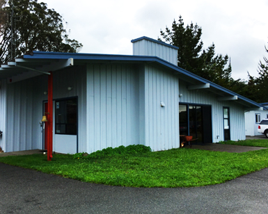 A front view of the Tomales Fire Station.