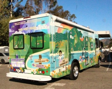 An exterior view of the new Learning Bus.