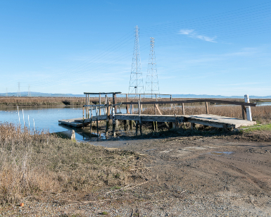 A view of the old boat dock at Bucks Landing in eastern San Rafael.