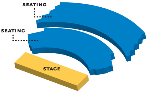 Image of the Showcase Theater seating chart