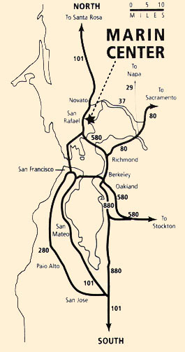 Bay Area Routes to Marin Center