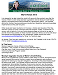 District 2 Newsletter for March 2013