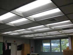 Mill Valley Middle School Lighting after retrofit.