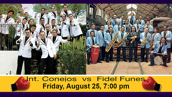Image of two bands who will be showcased at the Guatemalan Independence Day Concert.