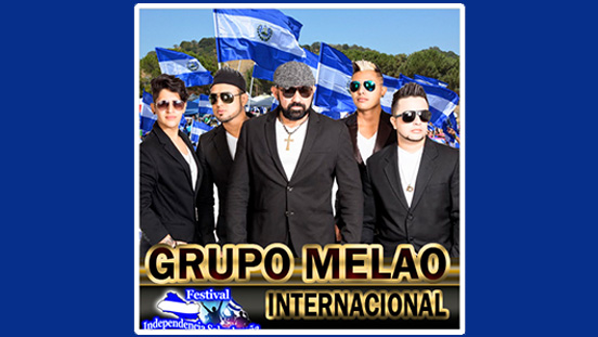 SC Productions - Salvadorian Music Festival. Performers with flags in the background.