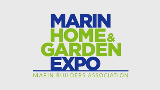 Marin Home & Garden Expo logo text.