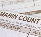 A Marin County tax form