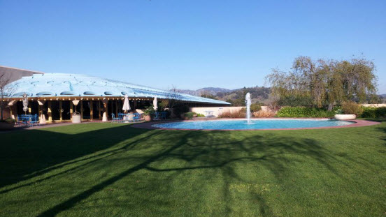 Cafeteria Patio at the Marin Civic Center