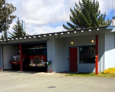 An exterior view of the Tomales Fire Station